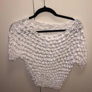 Tops - White Popcorn Shirt